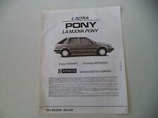 advertising Pubblicità 1986 HYUNDAI PONY
