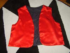 MENS RED BROWN OPEN FRONT WAISTCOAT NATIONAL ORIENTAL GENE ALADDIN FANCY DRESS