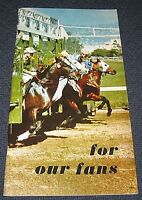 Vintage 1972 Horse Racing Brochure-Tanforan, Golden Gate Fields, Bay Meadows