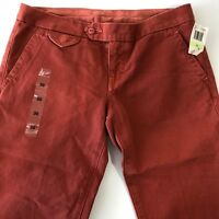 Citizens of Humanity Cropped Pants Red Sz 30  Women's Straight Leg Capris