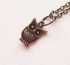 Owl Necklace Vintage Bird Bronze