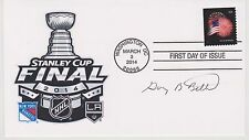 SIGNED NHL COMMISSIONER GARY BETTMAN FDC AUTOGRAPHED FIRST DAY COVER STANLEY CUP