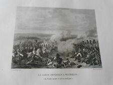 Gravure 19èm  La Garde impériale à Eylau les grenadiers chargent à la bayonnette