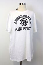 NWT Abercrombie and Fitch Men Short Sleeve T Shirt Top White XXL