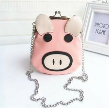 Super Cute Fashion Lolita Pig Handbag Clutch Chain Bag Crossbody Shoulder Bag