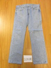 Used Levi 501 feather repairs grunge jean tag 38x34 meas 37x33.5 22864F