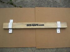 "See-Safe Door Security Includes 2x4 Board & 2"" Wide Open & Closed Brackets"