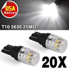 20x White T10 LED Side Marker Tail Parking Light Interior Bulbs W5W 158 192 2825
