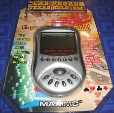 Las Vegas Texas Hold 'Em Electronic Handheld Travel Game New In Package Sealed