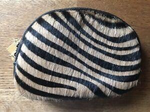 Hair On Hide Zebra print coin purse