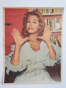 "ELIZABETH MONTGOMERY (SIGNED) - ""BEWITCHED"" - ORIG. POSTER TV  ARGENTINA 1960's"