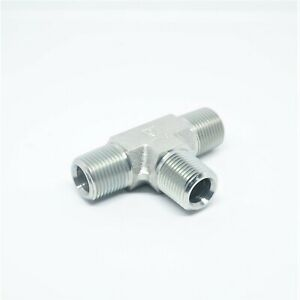 """Steel 3/8"""" Male Npt Mpt Tee T Pipe Fitting Vacuum, Fuel, Air, Water, Oil, Gas"""