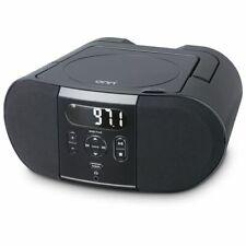 New listing Portable Cd Player Boombox with Digital Fm Radio - Black.