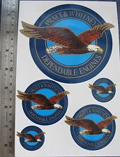 Pratt and Whitney Dependable Engines Stickers Bald Eagle