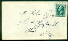 1880's U.S. 3¢ Banknote tied by early Norway Ny cancel, Vf, neat item