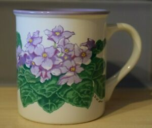 Potpourri Press African Violets Coffee Cup (1991)