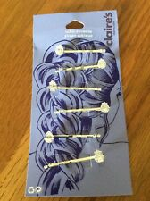 Six Cubic Zirconia Hairgrips (Claire's Accessories) BNWT