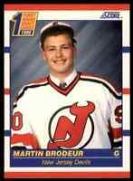 1990-91 SCORE HOCKEY MARTIN BRODEUR RC NEW JERSEY DEVILS #439