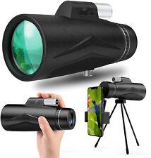 12X50 Monocular Telescope, High Power Monocular with 19cm Smartphone Holder
