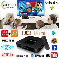 TX3 Mini Android 7.1 TV Box Quad Core 2GB 16GB HD WIFI 100M Lan H.265 KD 17.3
