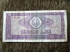 10 lei 1966 banknote free shipping Romania DG