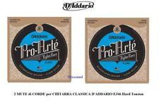 OFFERTA 2 SET CORDE D'ADDARIO Pro Artè EJ46 Hard Tension PER CHITARRA CLASSICA