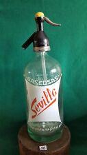 SIPHON SODA coleccion gastronomia AGUA DE SELTZ botella de cristal SIFON clasico