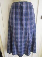 Ladies size 14 Marks & Spencer Classic blue mix tartan long skirt elasticated