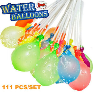 111pcs Bunch Water Injection Balloons Summer Self Tying Rapid Beach Party Toys