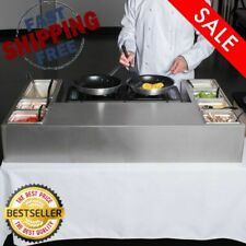 "Omelet Pasta Station Base Stainless Steel 44""x28"" Induction Butane Commercial"