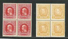 Venezuela: Scott 251, 255 in block of 4 10c. red and 1b. yellow, mint Nh. VE2217