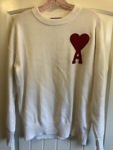 AMI Paris Alexandre Mattiussi Oversized Knit Heart Logo Sweater - Size L Used