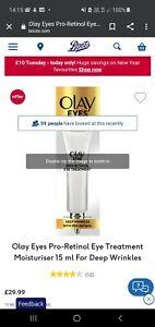 Olay Pro Retinol Eye lifting Serum 15ml.RRP £30💚