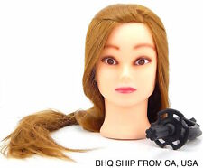50 % Real Human Hair Cosmetology Training Mannequin Head Brown