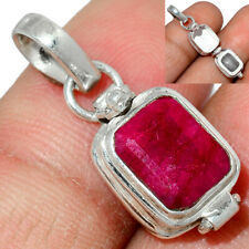 Poison - Ruby 925 Sterling Silver Pendant Jewelry AP181768