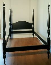 Craftique Solid Mahogany Queen Bed Black Finish