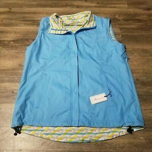 Peter Millar Reversible Flip Up Lightweight Vest MSRP $130 Womens Size Medium