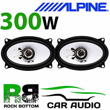 """ALPINE VW Golf Cabriolet 80-93 4x6"""" 10x15cm 2 way 300W Car Coaxial Rear Speakers"""