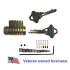 All Brass Cutaway Lock Schlage SC4 Keyway with Serrated Pins
