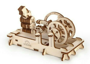 UGears ENGINE Self-propelled mechanical wooden model 3D puzzle