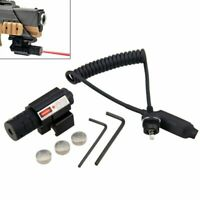 Tactical Red Dot Laser Sight Scope Rail+Remote Switch Beam For Hunting Rifle