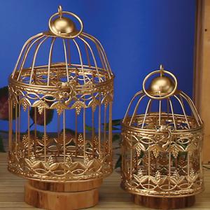 Small Decorative GOLD Metal Bird Cage GRAPE LEAF Design Wedding Choose Size