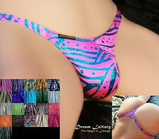 Dream-Luxury String Tanga METALLIC 3D 21 COLORS XS-XL Micro Thong Swimwear