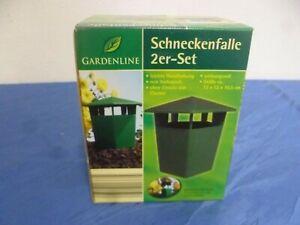 Gardenline Schneckenfalle 2er Set Schneckenabwehr Pflanzenschutz Schneckenzaun