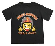 Harley-Davidson Little Boys' Wild & Crazy Emoji Short Sleeve Toddler Tee 1570710