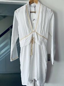 Zara Limited Edition Studio Broderie Embroidered White Tunic Short Dress Size S
