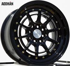 AODHAN AH04 15x8 4x100 / 4x114.3 +20 Black (PAIR) wheels