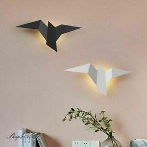 Bird Shaped Wall Lamp Led Iron Light Sconce Origami Minimalist Art Home Decor