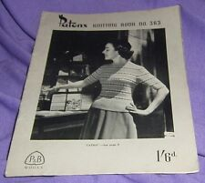 VINTAGE  'PATONS KNITTING BOOK  no 363  1940s or 59s WOMEN'S PATTERNS (#nk21 )