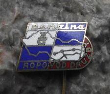 Benzina Czechoslovakia Fuel Motor Petrol Crude Oil Pipeline Pin Badge